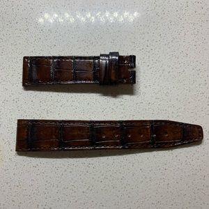 IWC watch leather belt brown